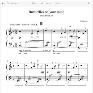 Butterflies Meespeeltrack - music sheet