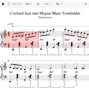 Cocktail Jazz majeur Bluestoonladder Meespeeltrack