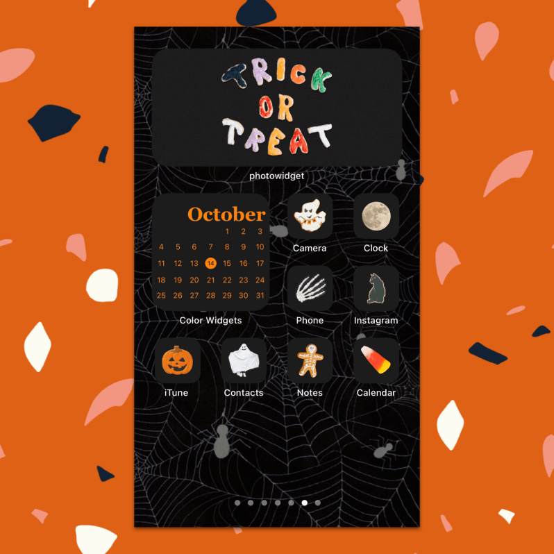 iOS 14 Spooky Halloween Theme Home Screen