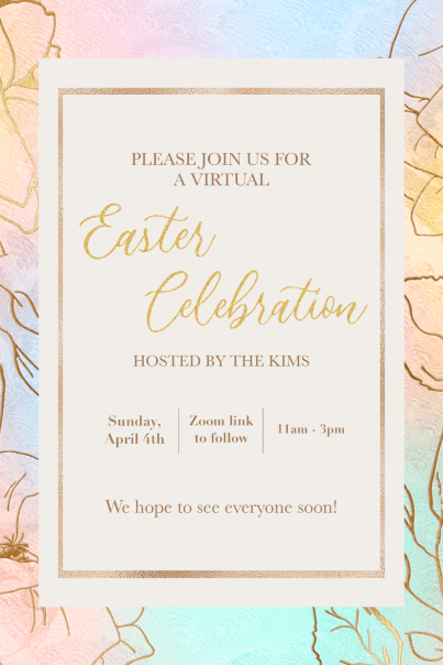 DIY Easter Party Invitations