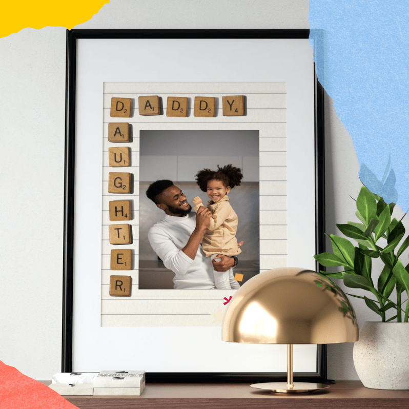 Father's Day Gift - DIY Photo Frame Scrabble Letters