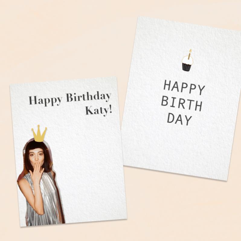 Minimal Birthday Card Inspiration