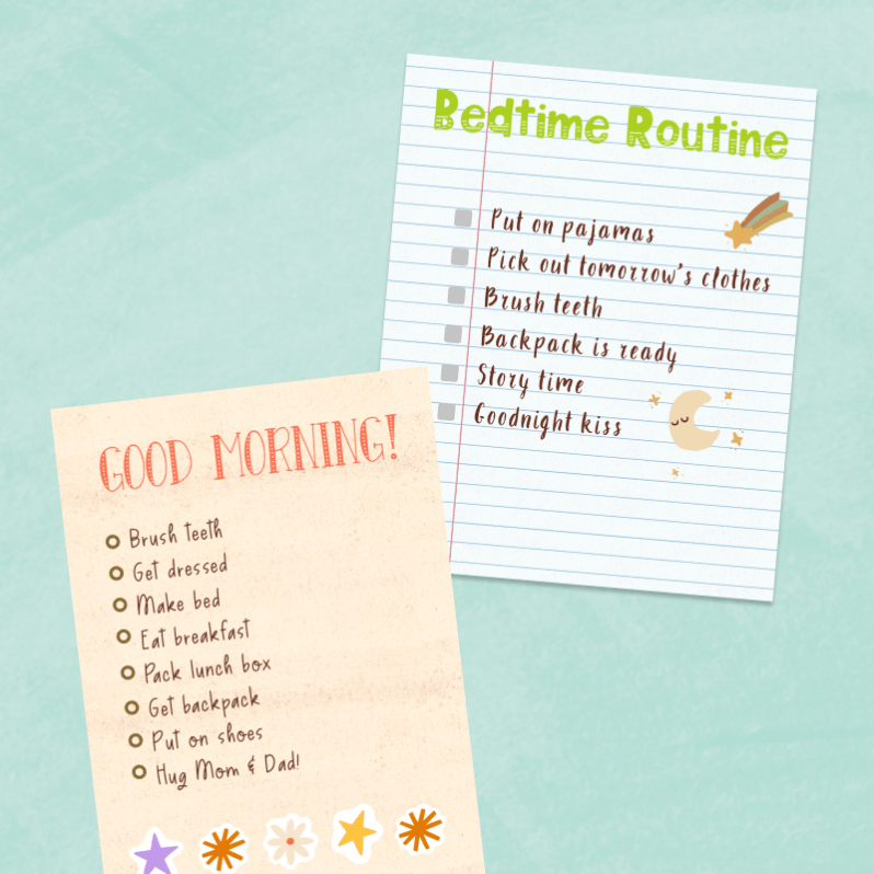 Back-To-School Morning and Bedtime Routine