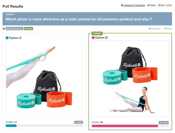 Main eCommerce product pictures for Yoga straps and bag, one with a woman modeling and another with only her leg.