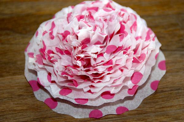 Seidenpapier-Blume9