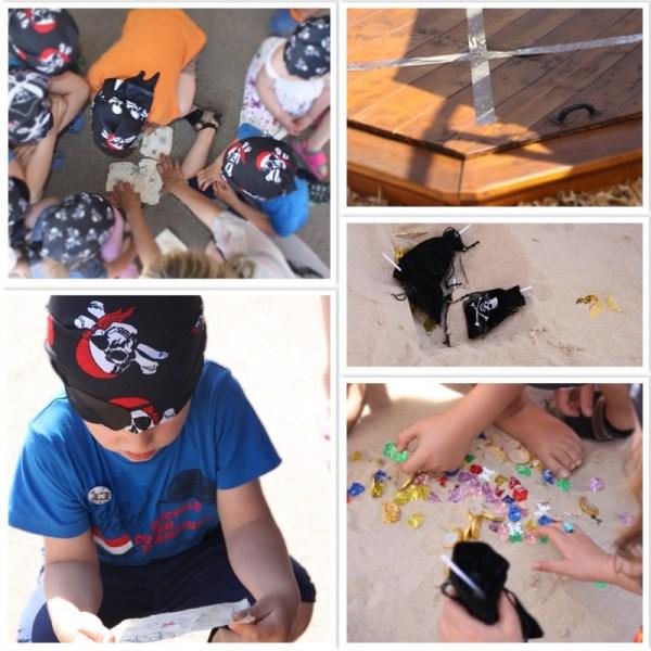 schatzsuche piraten party kindergeburtstag