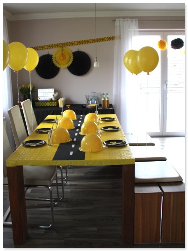 Baustellen party im hause pickposh party deko ideen und for Raumdekoration ideen