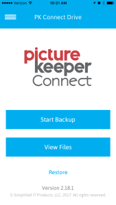 Picture Keeper Connect app landing page