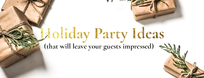 holiday party ideas banner