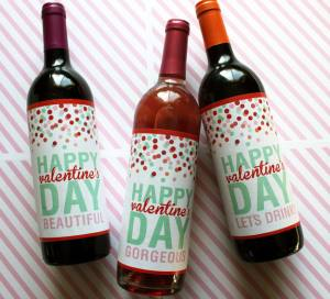 Valentine's Day Wine bottles