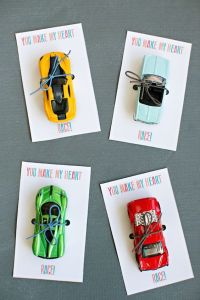 toy cars Valentine cards
