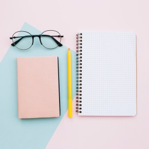 planner and graph paper notebook