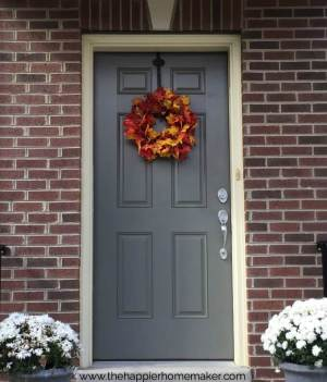 Leaf Wreath on a front door
