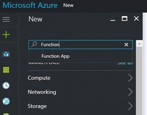 Create new function app