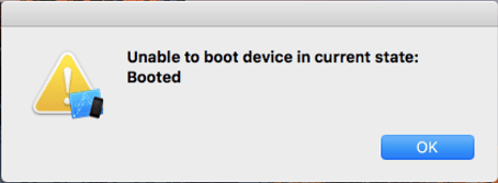 Unable to boot device errr message