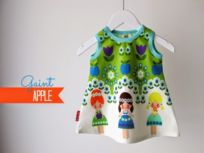 Giant Apple,  Finch Fabrics bloemenmeisjes