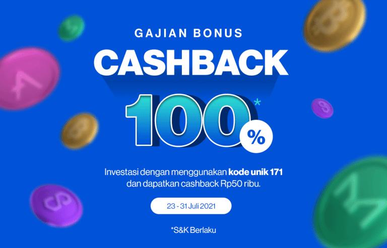 Gajian Bonus Cashback 100%, Gunakan Kode Unik 171!