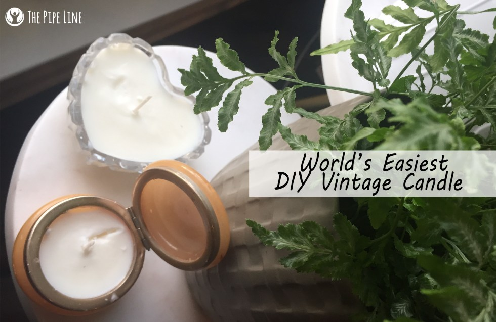 vintage candle diy
