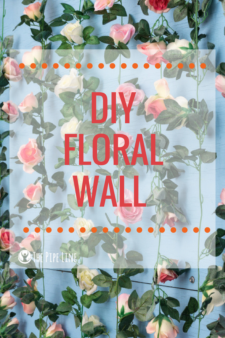 DIY Floral Wall
