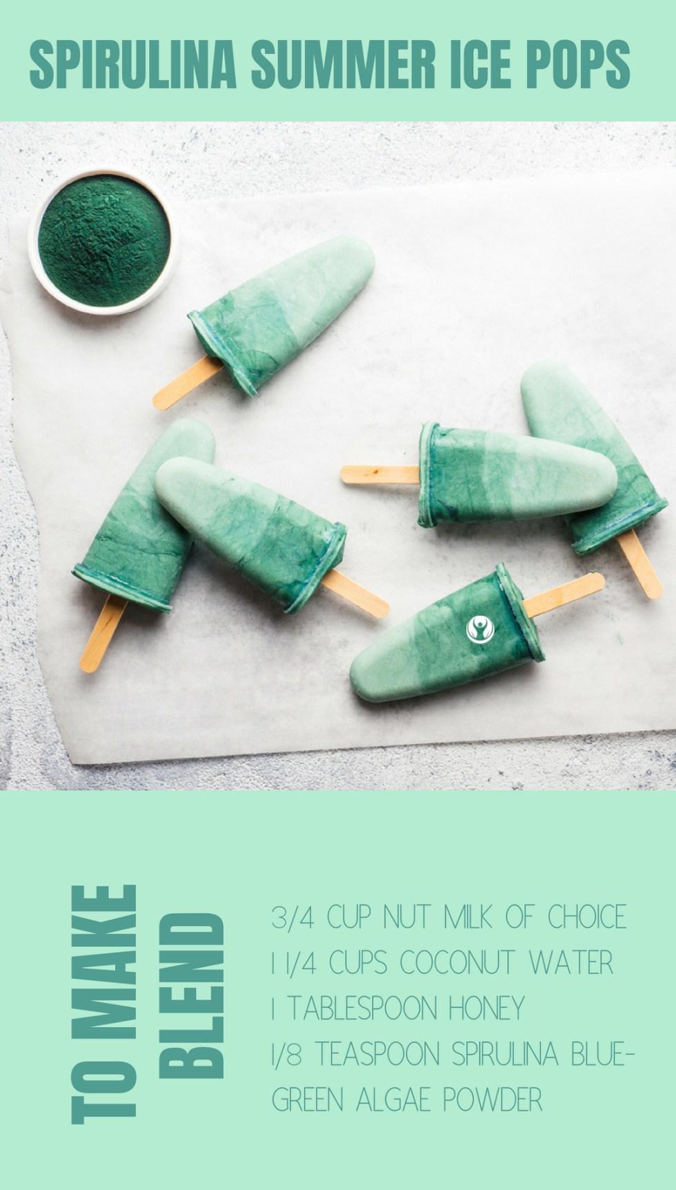spirulina ice pops