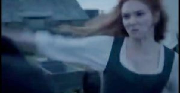 """DANGER - angry redhead alert (ANSI Z535.5 Definition: """"Indicates a hazardous situation that, if not avoided, will result in death or serious injury. The signal word """"DANGER"""" is to be limited to the most extreme situations)."""