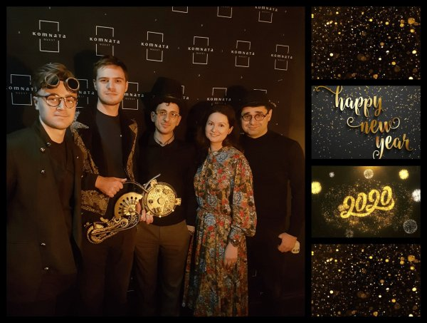 pitchme founders at happy new year 2020 event