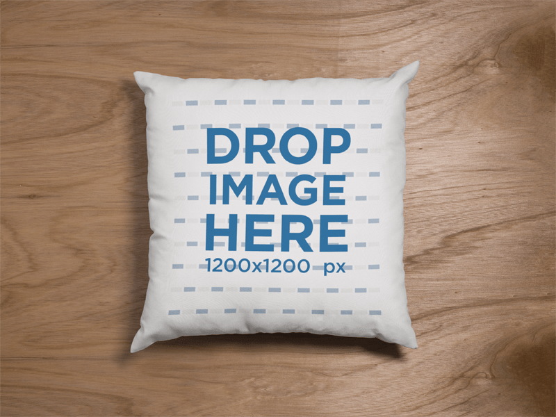 make a pillow mockup with placeit