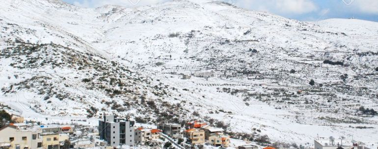 Mount Hermon and the Druze village of Majdal Shams