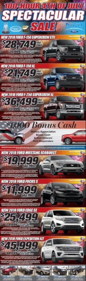 Planet Ford Houston >> Planet Ford 100 Hour 4th Of July Sale Planet Ford 59planet Ford 59
