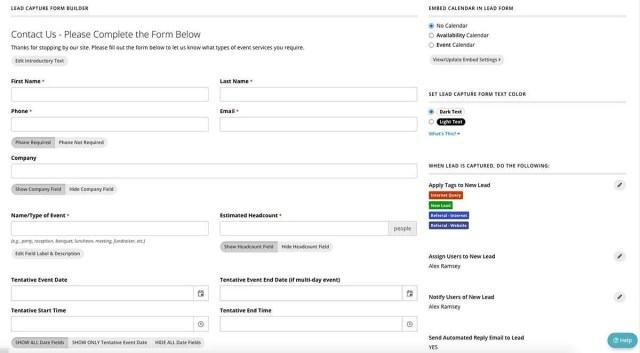 Planning Pod Lead Capture Form Builder