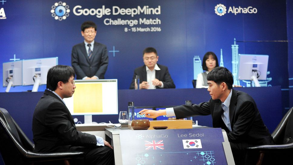 Lee Sedol contre AlphaGo, © REUTERS/Korea Baduk Association/News