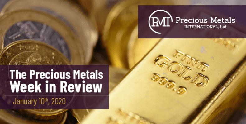 The Precious Metals Week in Review - January 10th, 2020.