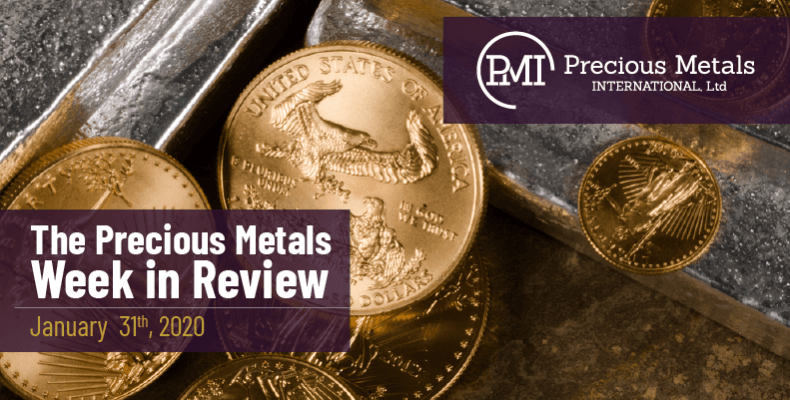 The Precious Metals Week in Review - January 31st, 2020.