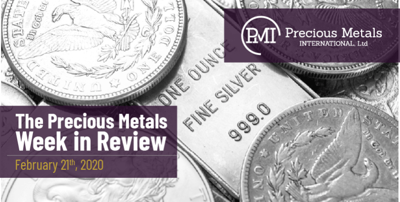 The Precious Metals Week in Review - February 21st, 2020.