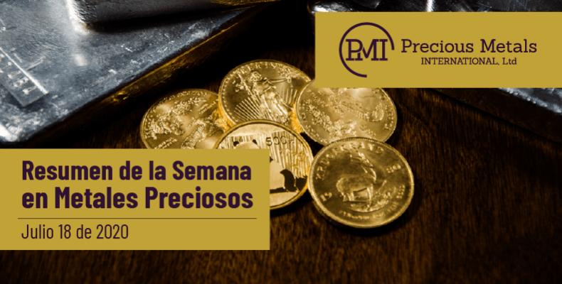 Resumen de la Semana en Metales Preciosos - Julio 18 de 2020.