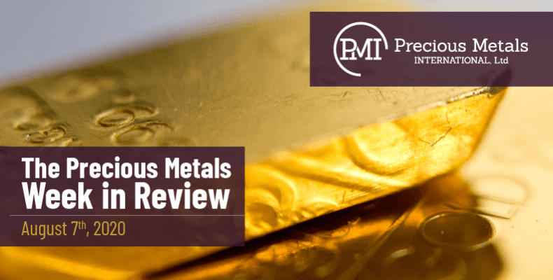 The Precious Metals Week in Review - August 7th, 2020.