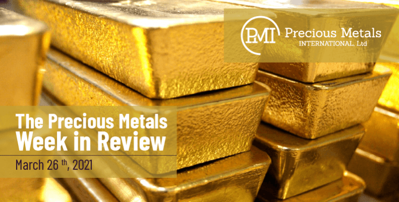 The Precious Metals Week in Review – March 26th, 2021