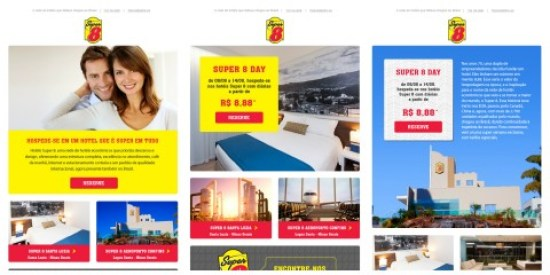 E-mail marketing Case Hotéis Super 8
