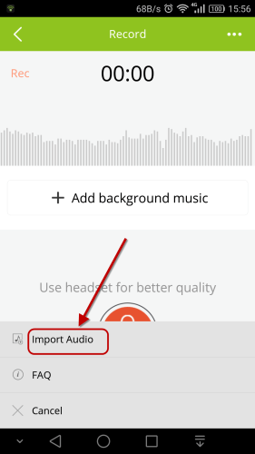 import audio android