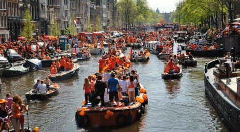 King's Day Amsterdam Netherlands