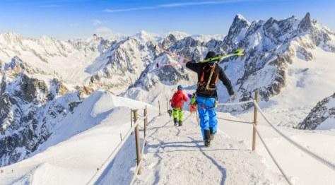 Skiing In France Chamonix