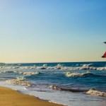 Kite surfing beach