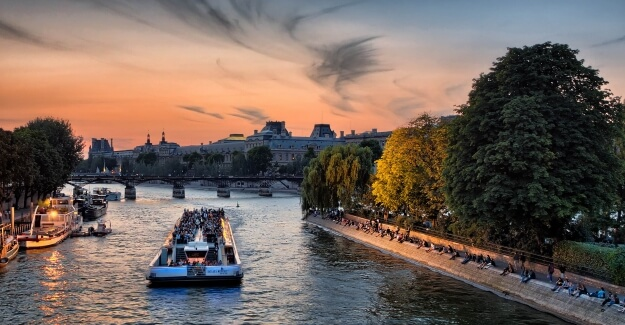 Boat on the River Seine in Paris