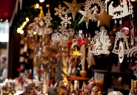 decorations at the Christmas market in Cologne