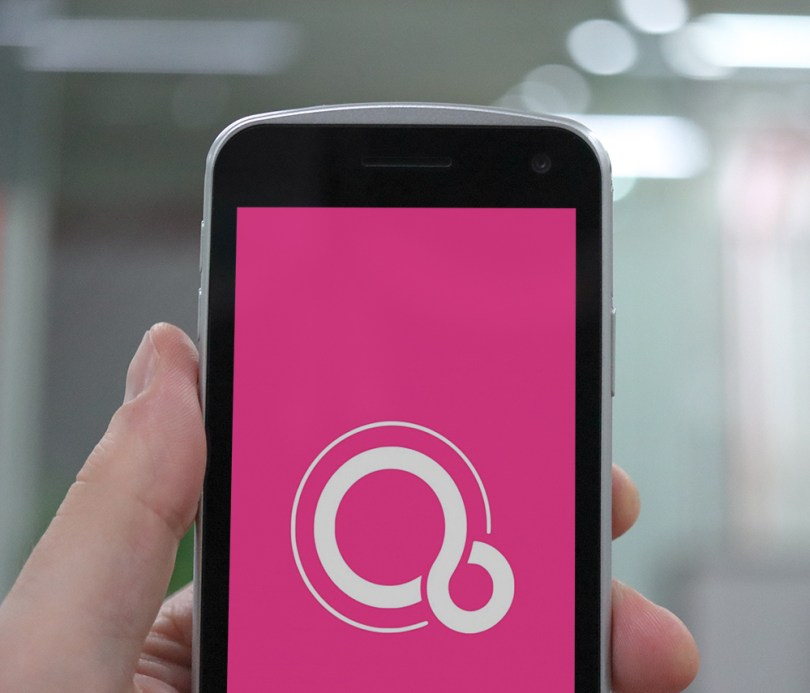 Google Fuchsia concept image on a Point Mobile PM30 mobile computer