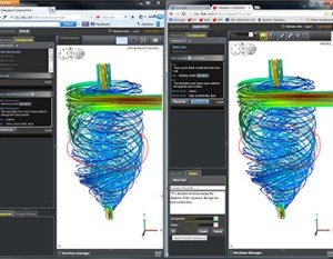 Flow solution from Ciespace CFD.