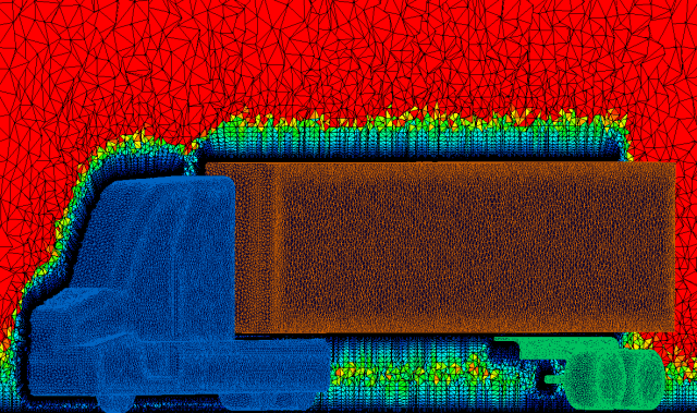 The final unstructured viscous volume mesh.