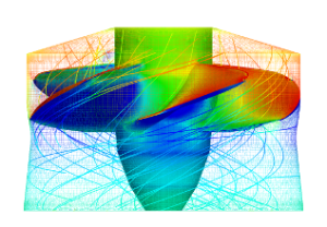 A CFD solution from Water Turbine CFD. Image from CFD Support.