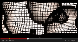 LivingSculpture 3D Modular OLED system. Screen shot from a video of the lights being manipulated interactively.