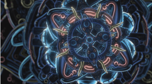 Cosmic Flower Unfolding by Ben Ridgway. As first seen on Colossal. Click image for video.